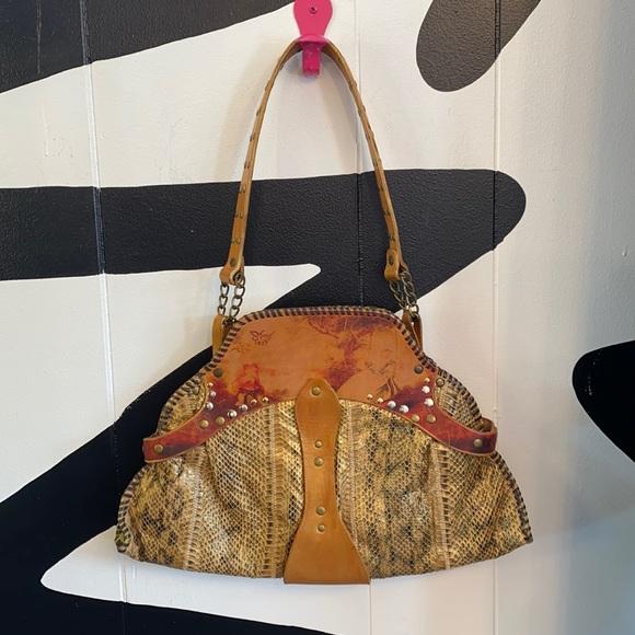 Sharif 1827 leather snakeskin handbag